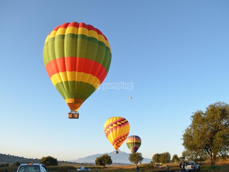 Balloon flight over Huamantla