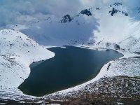 Laguna del Sol nevada in the Nevado de Toluca