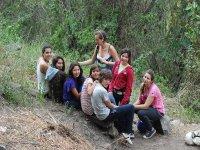 amigos en el bosque
