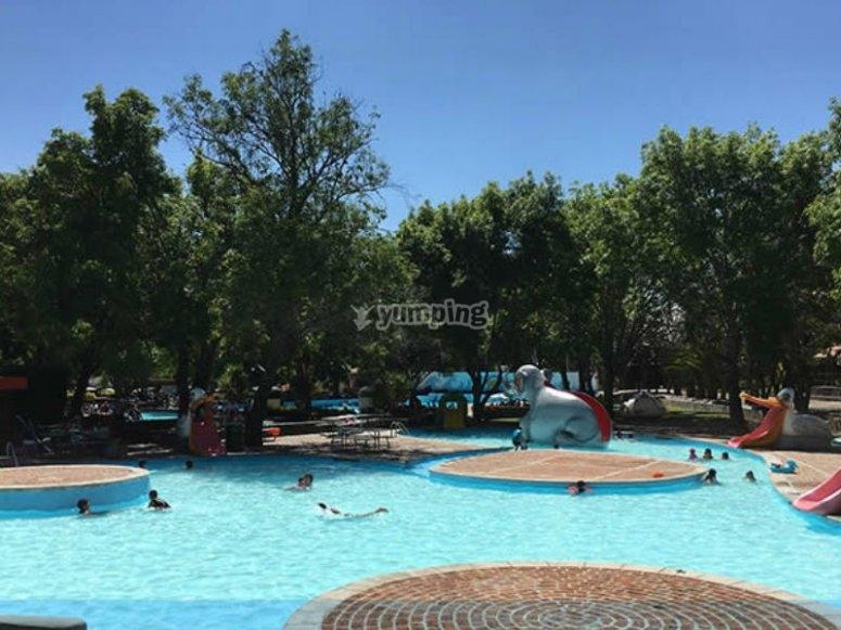 Splashing pool for the little ones