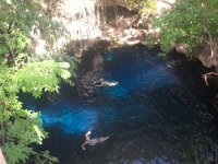 View to the cenotes