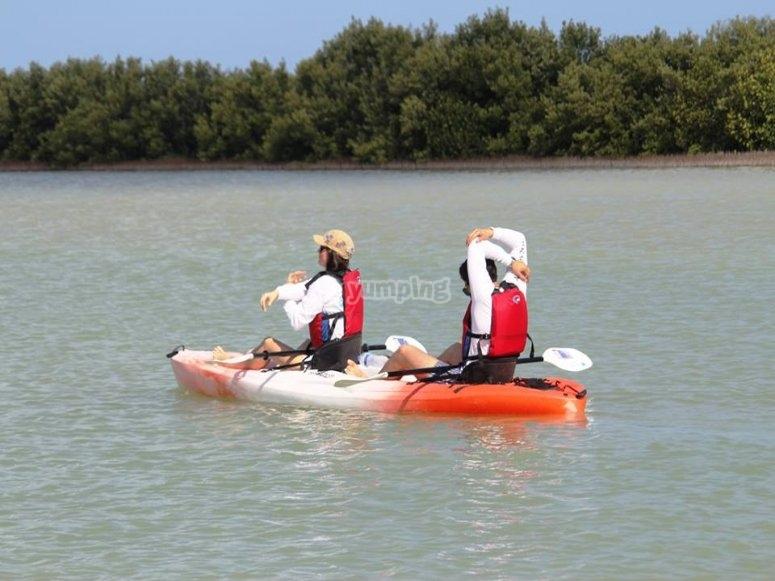 Puedes hacer kayak en pareja