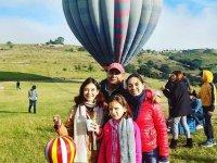 Birthday balloon elevation in Tepotzotlán