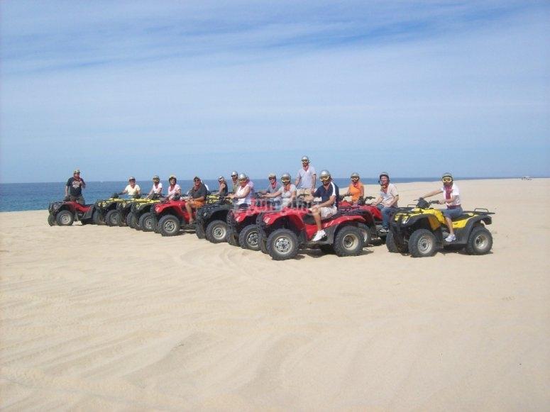 Cuatrimotos en la Playa