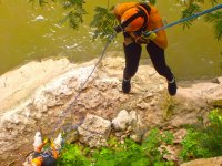 Climbing in the El Gimnasio area in the Sumidero Canyon