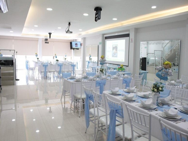 Salon decorated for the celebration