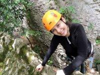 Enjoying the summit on a simple climbing route MEseta de Copoya