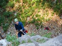 Enjoying the vertical in the Cañada Chorreadero