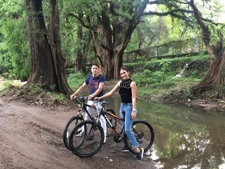 Couple enjoying the bikes