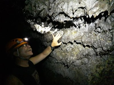 Basic level caving in San Juan Tlacotenco
