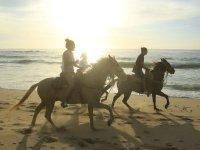 Espectacular tour a caballo por las playas del Pacifico mexicano