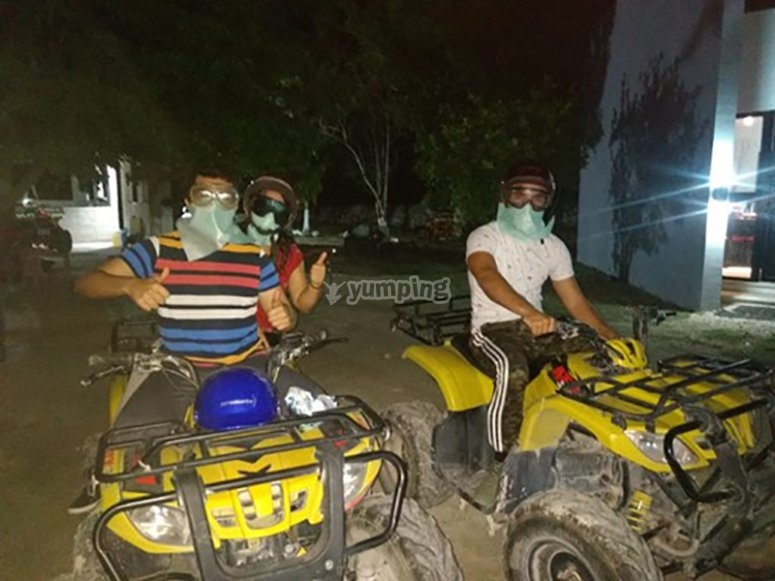 Night tour in ATV near Puerto Progreso