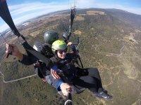 Paragliding flight near Guadalajara