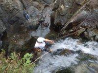Rappel por cascadas y cañones en Mineral del Chico