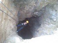 Rappel de 85 m de profundidad