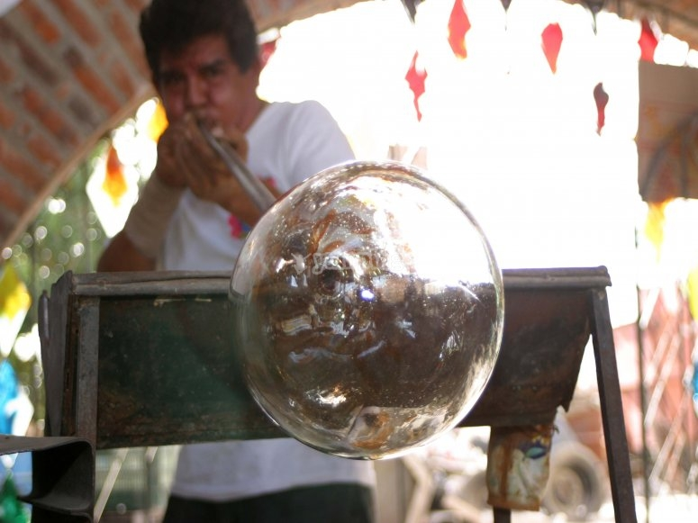 Learn about the manufacturing process of blown glass