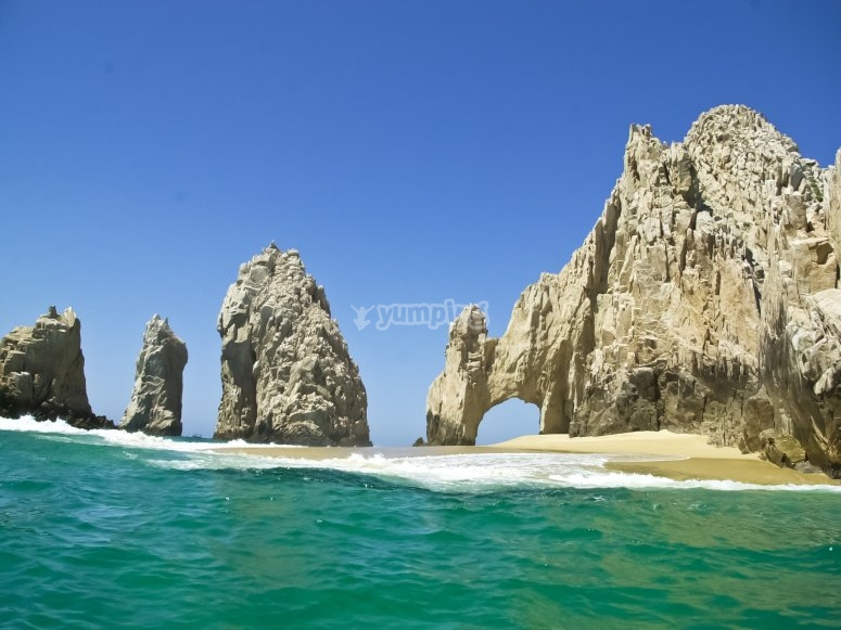 We will sail to El Arco de Cabo San Lucas