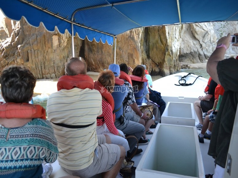 You will be able to observe the sea floor from the comfort of the boat