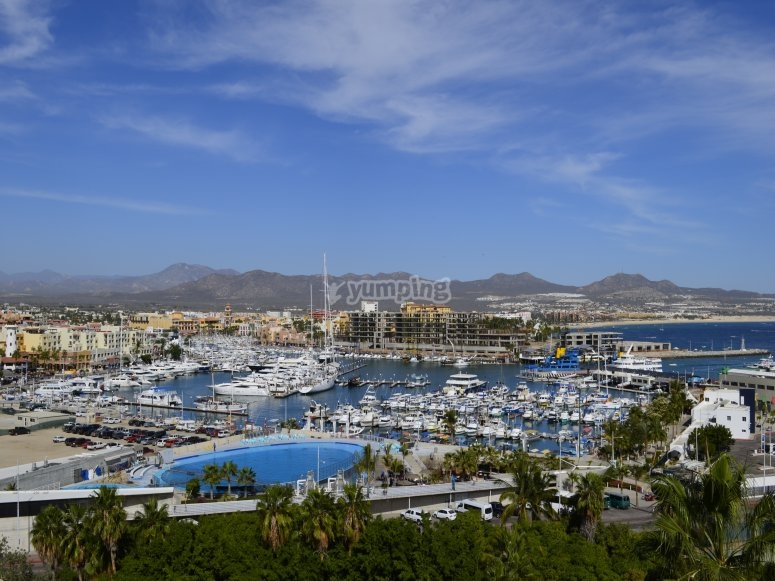 View of the port of Cabo San Lucas