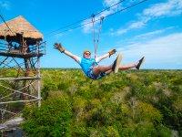 Zip-line, rappel and snorkel chidren Riviera Maya