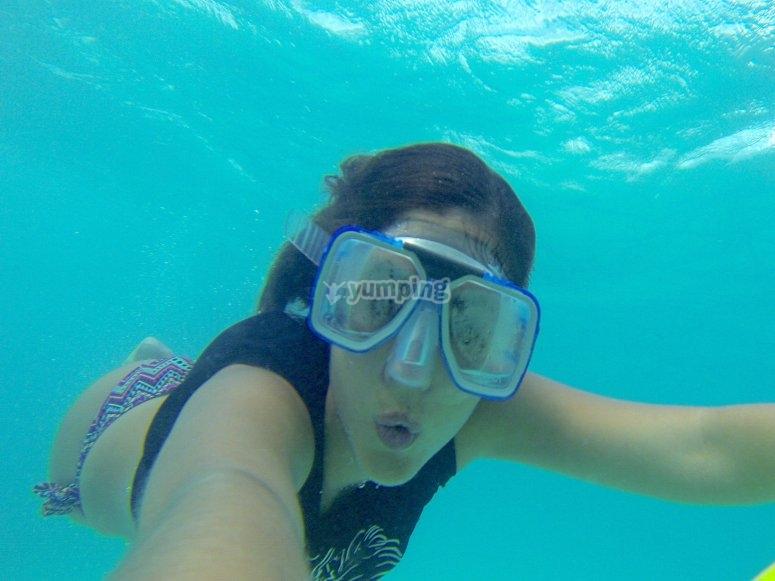 Buceando en Isla Mujeres