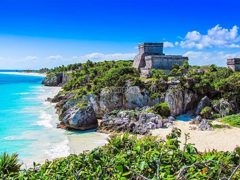 La costa del mar Caribe