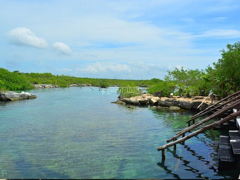 One of the snorkeling points