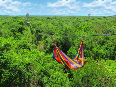 Snorkel and zip-line for kids in Riviera Maya