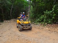 Quad bike, zip-line and snorkel Riviera Maya