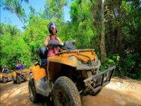 Quad bike through the jungle