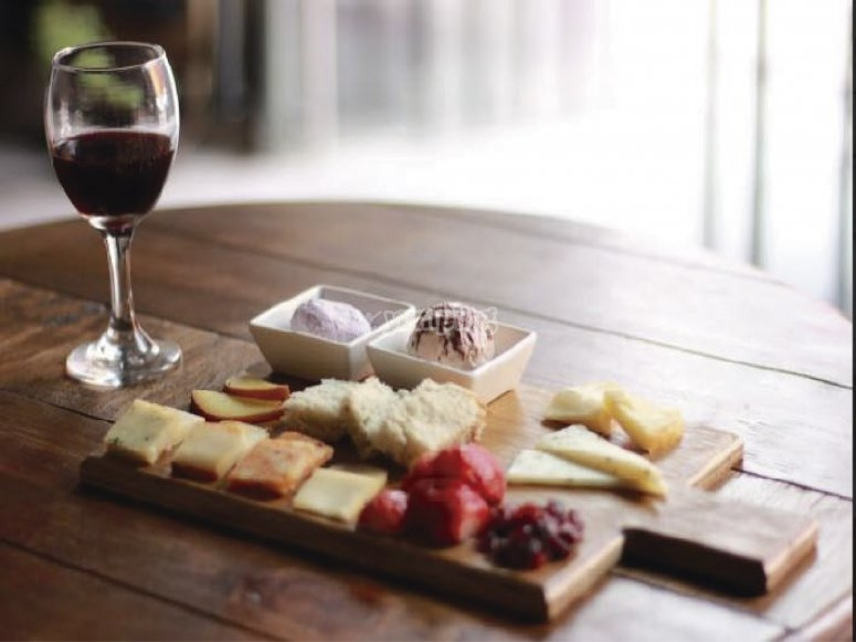 Cheeses and wine
