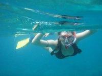 Snorkeling en el mar