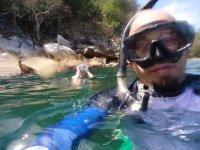 snorkeleando en yelapa
