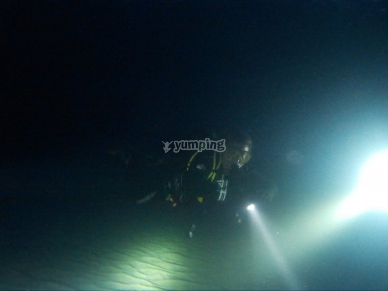 Dive with flashlights and neoprene