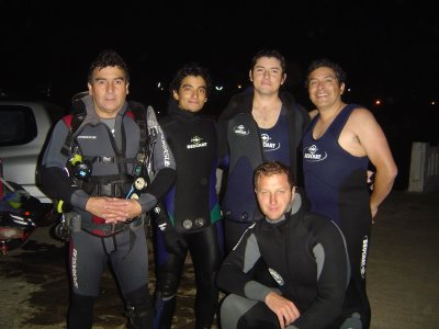 Night scuba diving 1 oxygen bottle, Isla Cerralvo