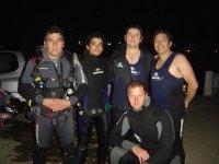 Night scuba diving 1 oxygen bottle, Isla Cerralvo