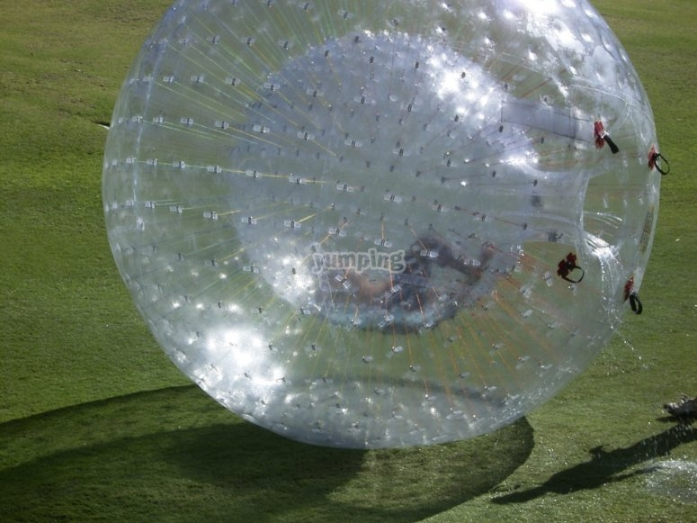 Bouncing on the giant zorbing