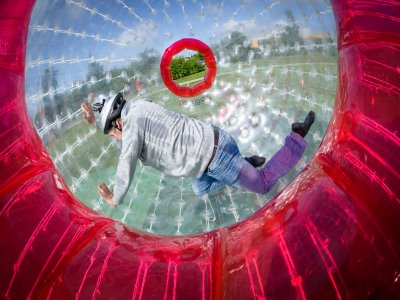 Giant inflatable zorbing in Querétaro 5 hours