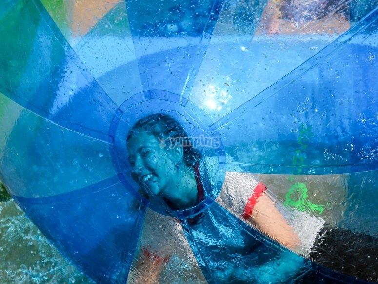 Fun inside the bubble