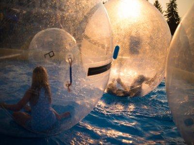 Pelotas inflables acuáticas con alberca Querétaro
