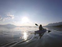 Rowing in the lake of Chapala
