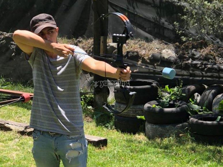 Rubber arrow archery