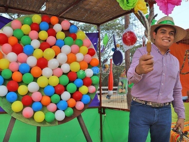 Juego de ponchar globos