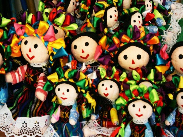 Handmade doll of Querétaro