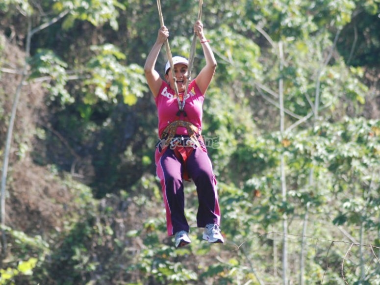 Maximum adrenaline in our zip lines