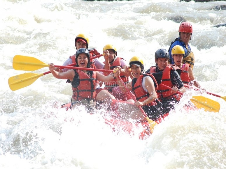 Maximum fun with rafting