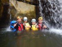 fun under the waterfalls
