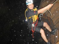 rappel in the grotto