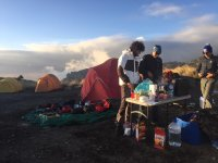 We camped