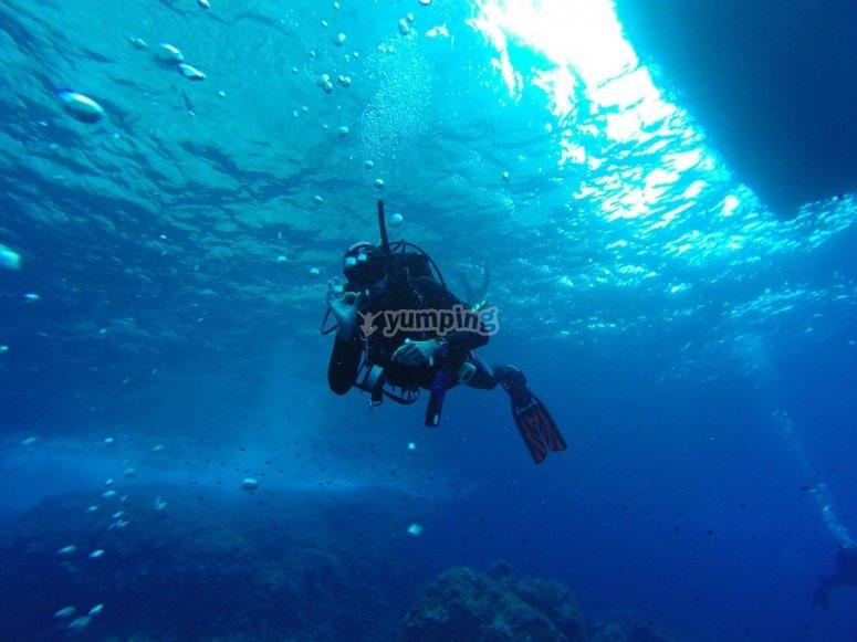 Inmersión en agua salada